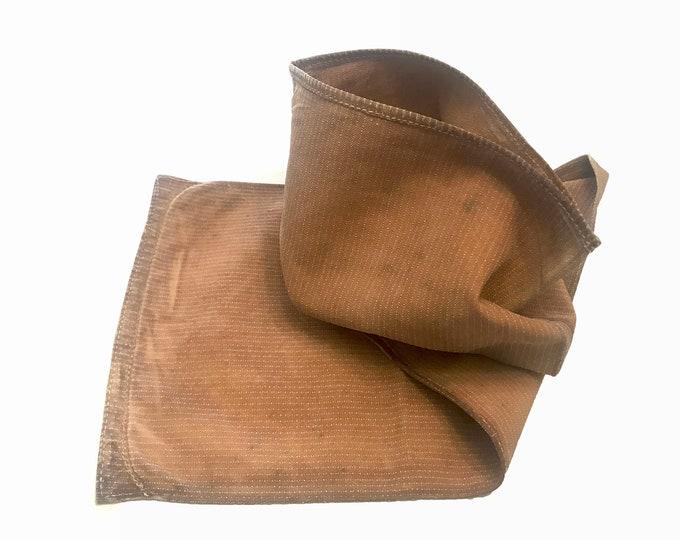 Sakabukuro. Japanese Antique. Sake Bag. Industrial Sack. Kakishibu Cotton. Industrial Fabric. Kakishibu Bag. Folk Fabric. Folk Textile