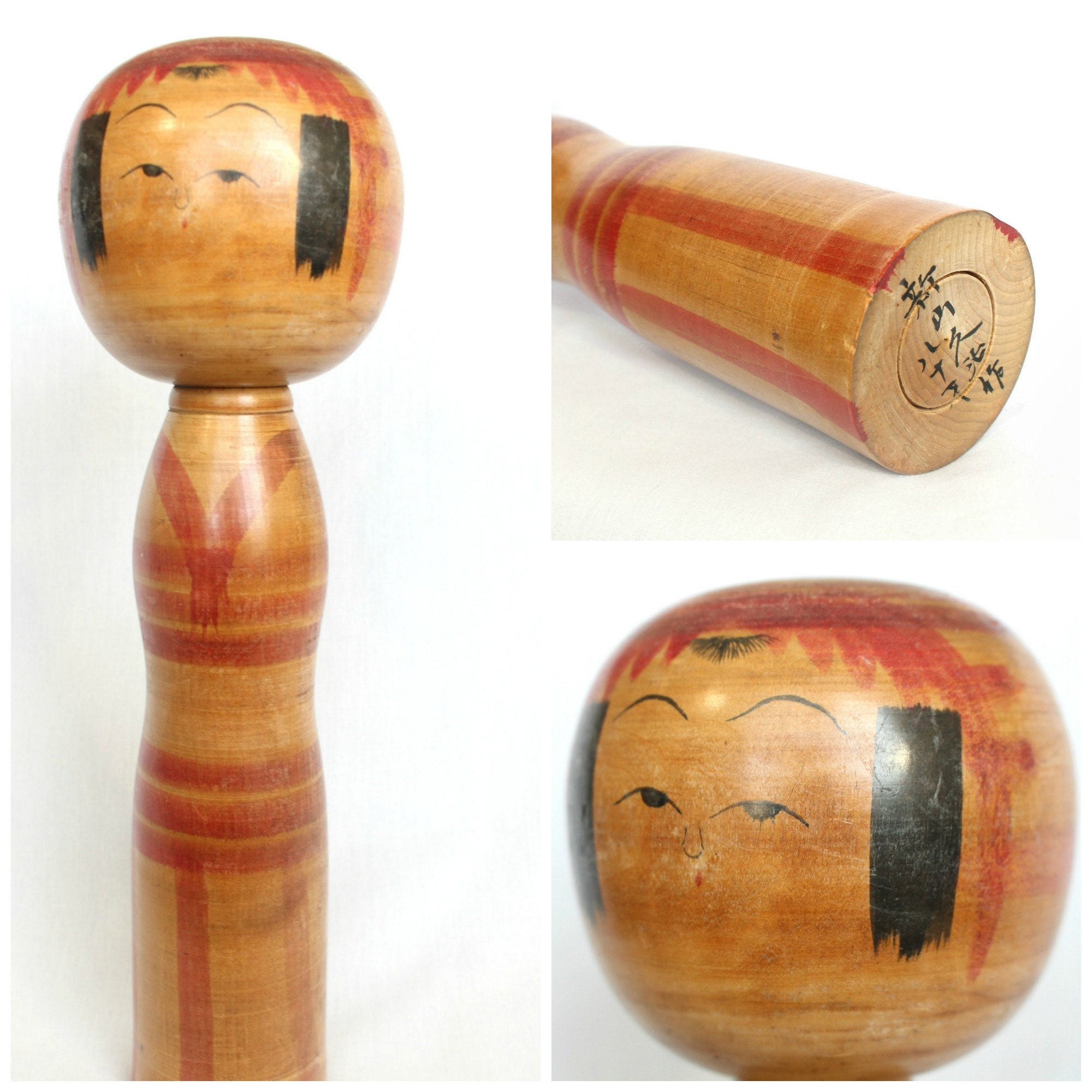 LARGE Kokeshi Doll  Vintage, Traditional Japanese  (Ref: 2002)