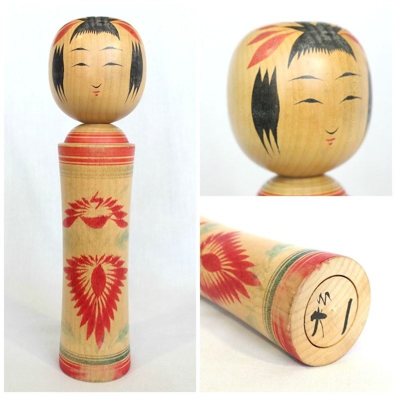 Kokeshi Doll  Japanese Wooden Toy  Japanese Home Decor  Boho Home Decor   Traditional Figurine (Ref: 2003)