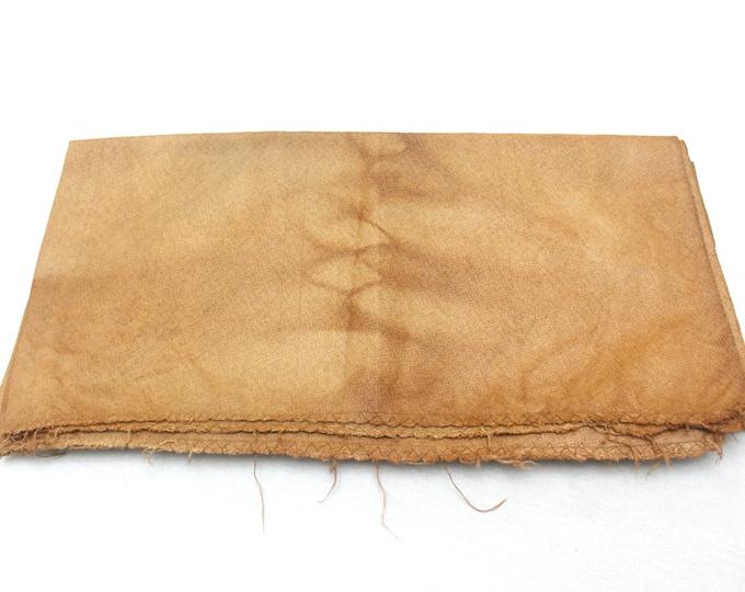 Kakishibu from Kyoto. Artisan Made Persimmon Dyed Thick Cotton Denim. Orange Rust Brown (Ref 1517-1522)