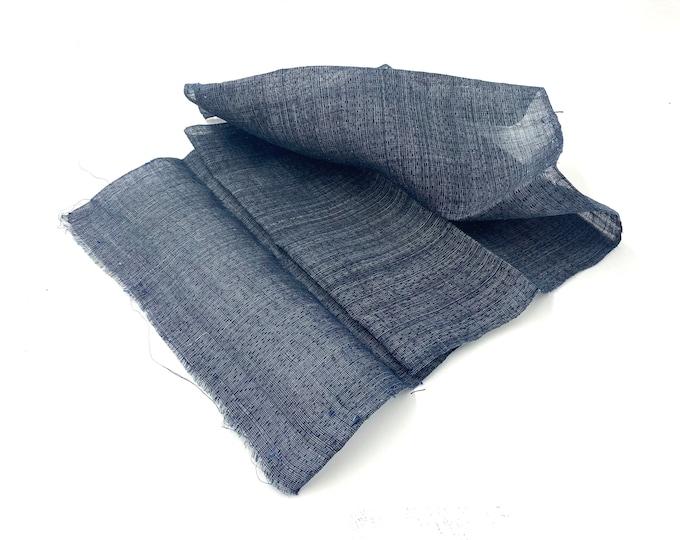 Antique Japanese Fabric. Indigo Cotton. Indigo Hemp. Folk Fabric. Japanese Indigo. Fabric. Vintage Fabric. Quilting Fabric