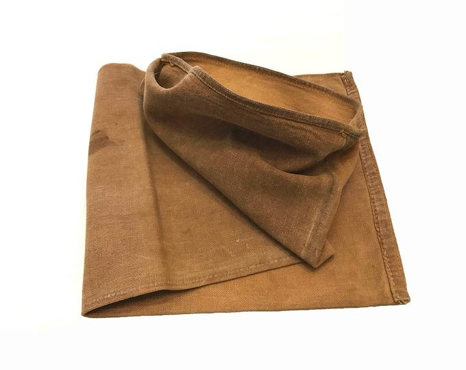 Sakabukuro. Japanese Antique. Sake Bag. Kakishibu Dyed. Persimmon Dyed. Industrial Sack. Thick Cotton. Industrial Fabric. Folk Textile
