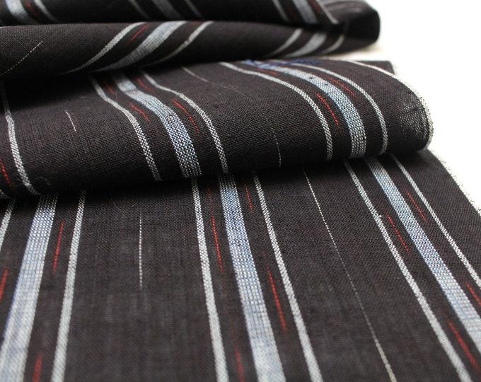 Japanese Vintage Kasuri Ikat. Woven Cotton Scrap. Traditional Folk Fabric. (Ref: 1914)