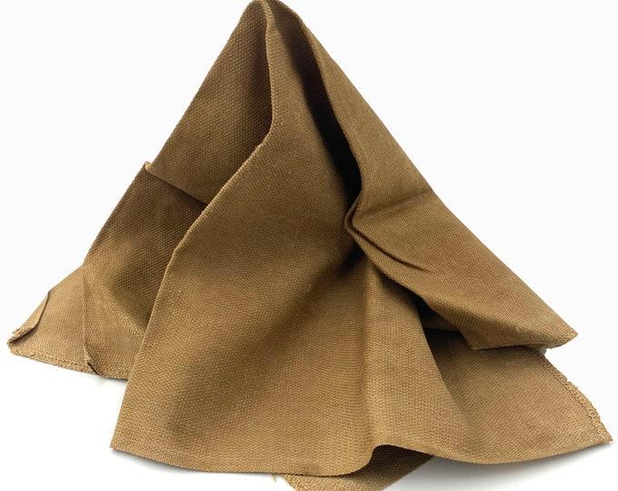 Kakishibu Cotton. Persimmon Dye. Japanese Fabric. Thick Cotton. Orange Rust Brown. Vintage Japanese Cotton. Industrial Fabric.