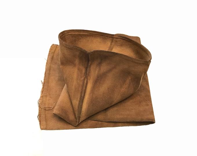 Sakabukuro. Japanese Antique. Sake Bag. Industrial Sack. Kakishibu Cotton. Kakishibu Textile. Japanese Folk Textile. Industrial Fabric