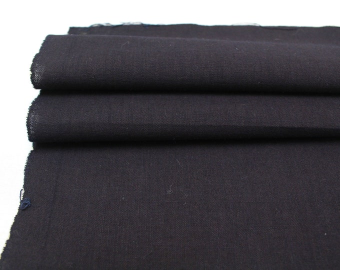 2 Japanese Indigo Cotton Scraps. Artisan Aizome Boro Textile. Blue Vintage Folk Fabric (Ref: 1732A/B)
