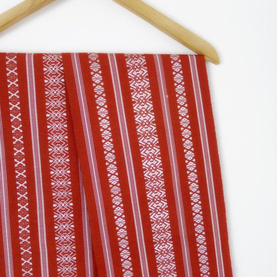 Classic Hakata obi - brick red kimono obis