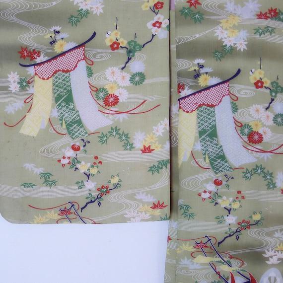 Collector ! Taisho kimono Jacket, Silk pongee Haor