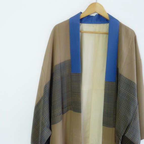Silk kimono robe - nagajuban, gift for him, Men ja
