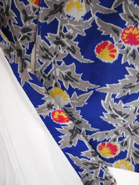 Blue Meisen kimono - Meisen long kimono, silk kim… - image 8