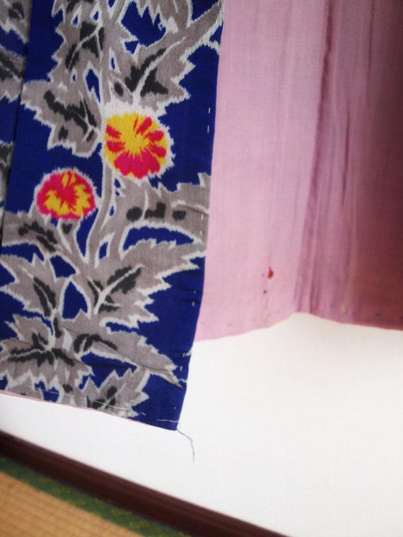 Blue Meisen kimono - Meisen long kimono, silk kim… - image 9
