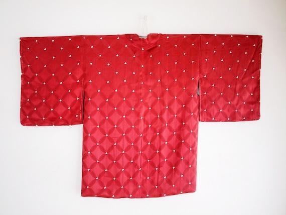 Old rose Haori - 60's vintage, silk kimono cardigan, gift sustainable for women, sustainable gift fashion f16c7f
