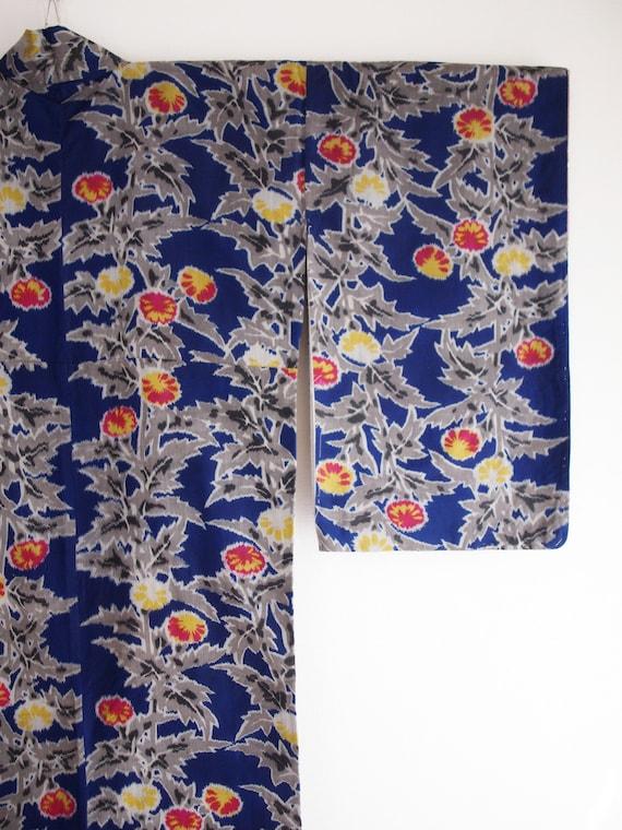 Blue Meisen kimono - Meisen long kimono, silk kim… - image 3