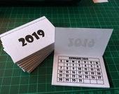 Mini Calendario.Items Similar To Mini Calendario 2019 20pz Craft