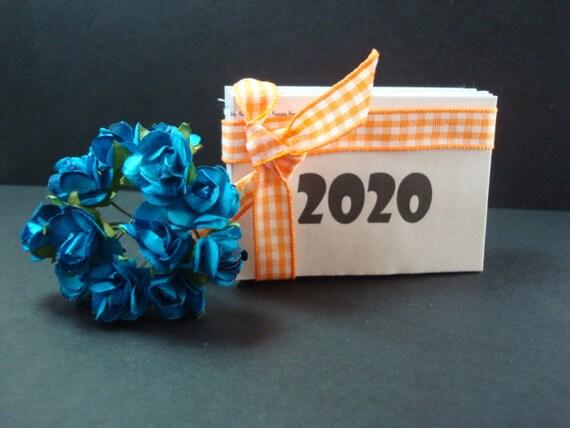 Mini Calendario.10 Mini Calendari Mini Calendario 2020 10pz Craft Scrapbooking Carta Cartoncino Card