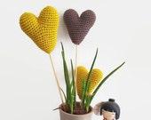 Amigurumi hearts set, Crochet wedding decoration, Table heart centerpiecer, wedding hearts bouquet, party decor, customizable colors