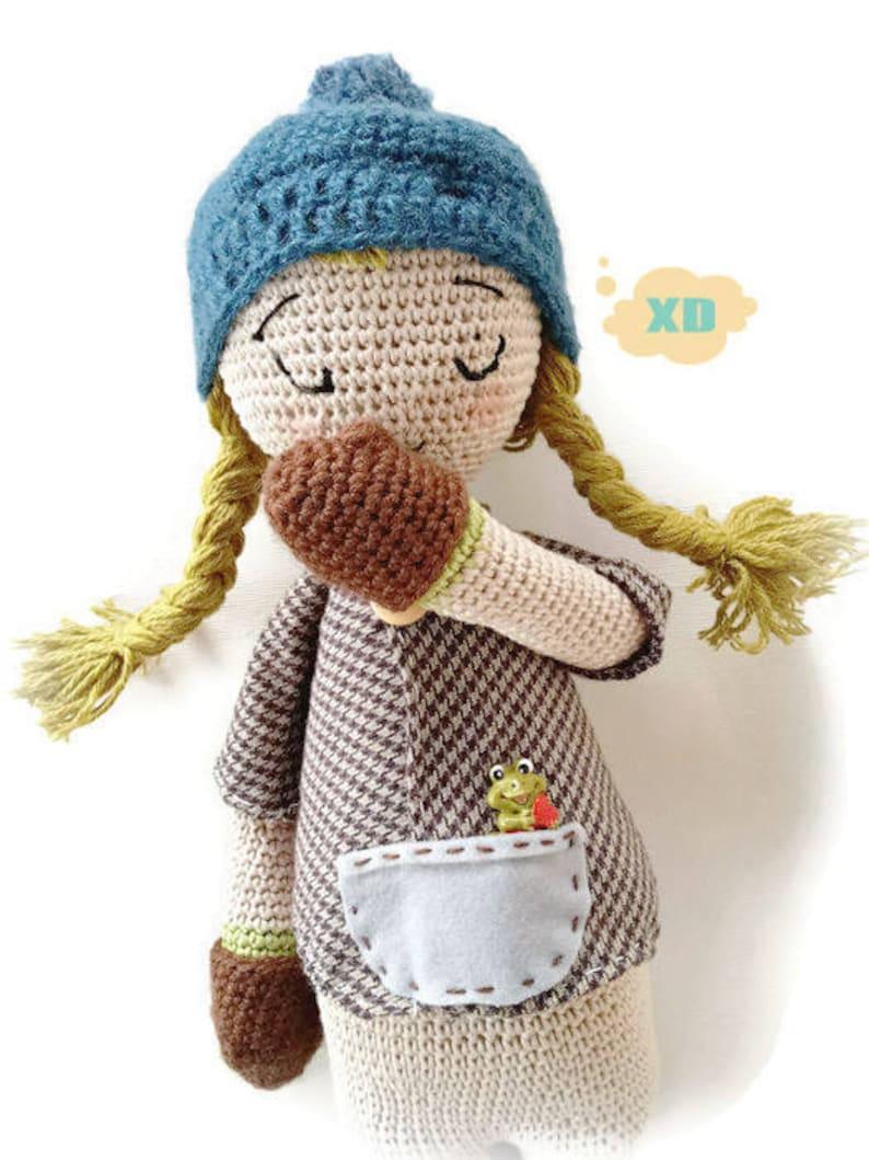 Bambola Amigurumi Bambola All Uncinetto Pupazzo Etsy