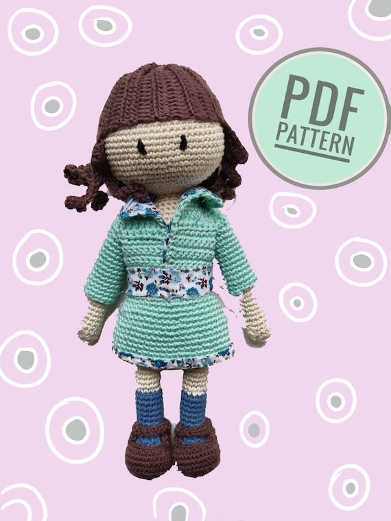 Bambola Amigurumi Uncinetto Tutorial 🌈 Muñeca Crochet - Doll ... | 760x570