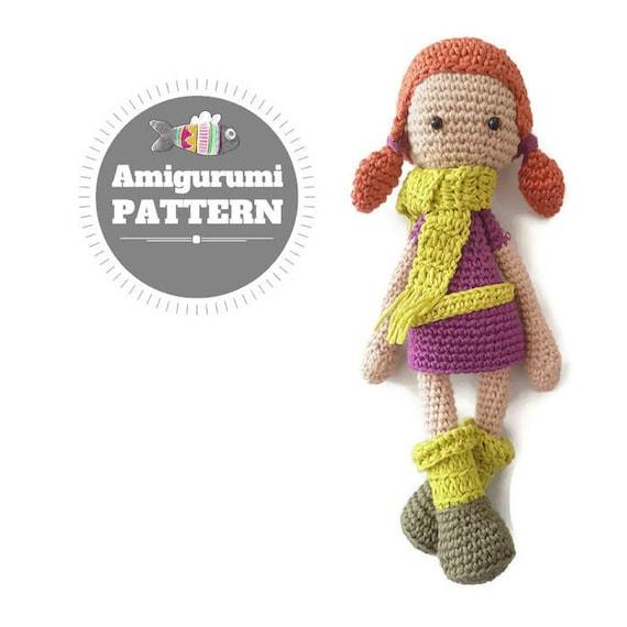 CROCHET PATTERN: Lisa Amigurumi Doll Pattern crochet pattern | Etsy
