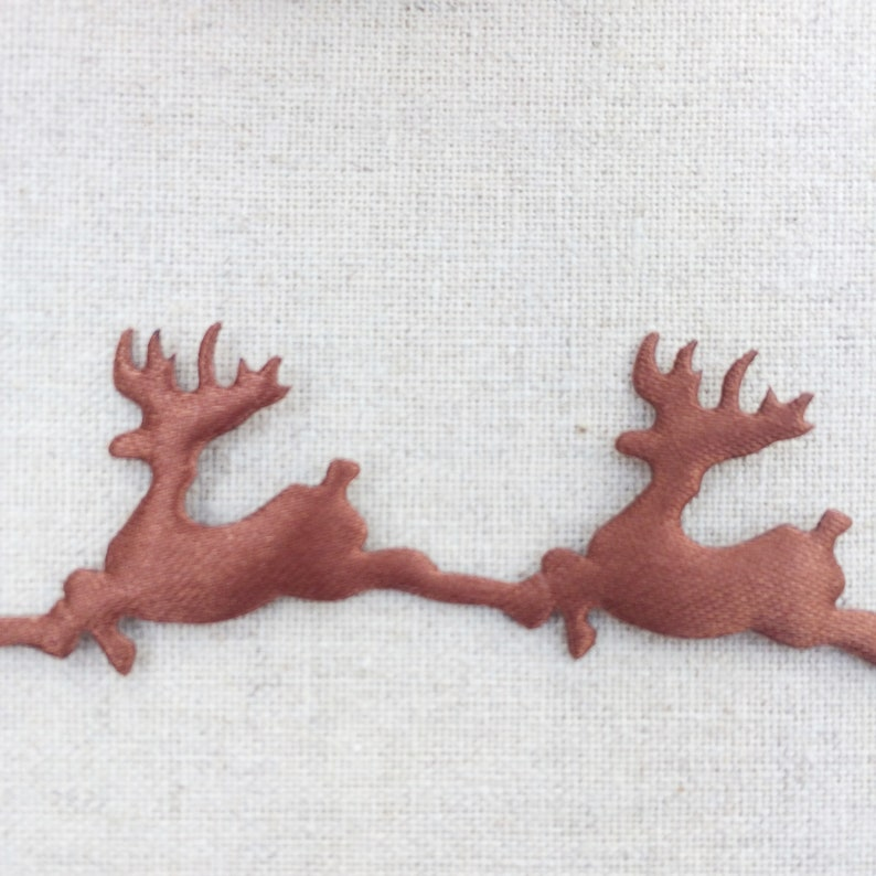Reindeer and Red Plaid Ribbon Collection