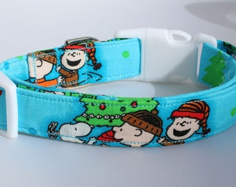 Peanuts Celebrate Christmas Dog Collar Size XS, S, M or L