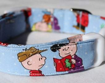 Charlie Brown Christmas Dog Collar Size XS, S, M or L