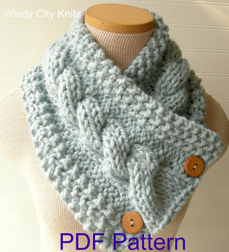 Instant Download Knitted Scarf Pattern Includes Free Pattern Etsy