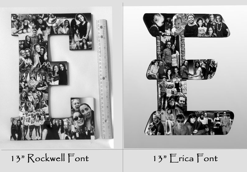 Letter Collage Friend Collage Custom Photo Letter Collage College Graduation Gift Girlfriend Photo Gift High School Graduation Gift
