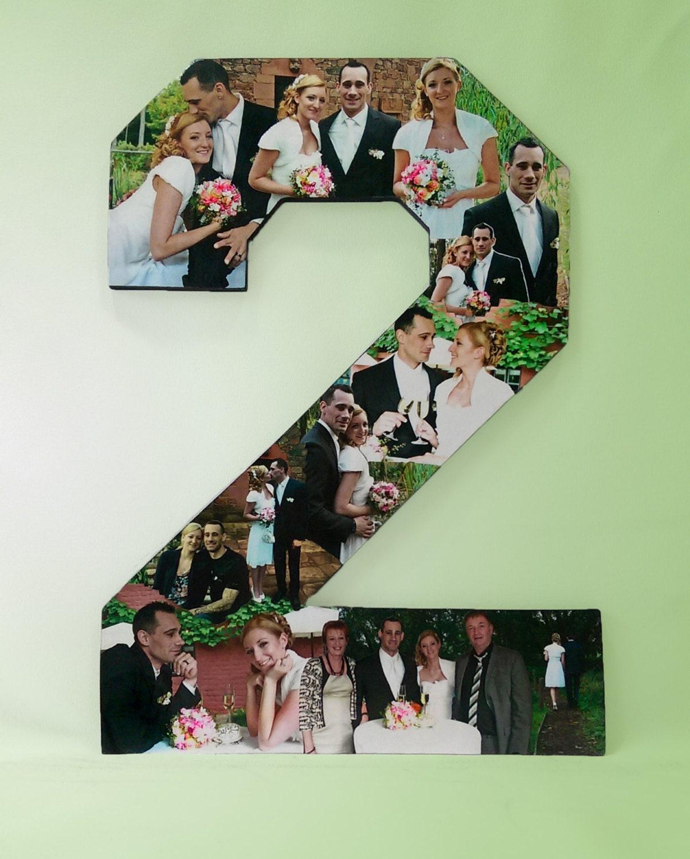 2 Year Anniversary Gift: 2nd Year Anniversary Photo Gift Photo Collage Photomontage