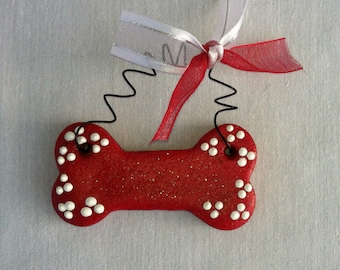 Personalized Dog Bone Ornament, Christmas Ornament for dogs