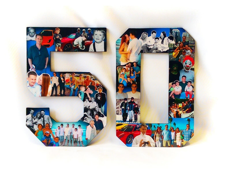 Cars Photo Collage Photomontage 50th Birthday Gift For Car