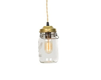 Vintage Simply Modern Ideal Canning Mason Jar Pendant Light