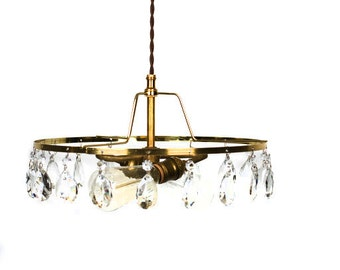Simply Modern & Vintage Shabby Chic 2 light Crystal Chandelier