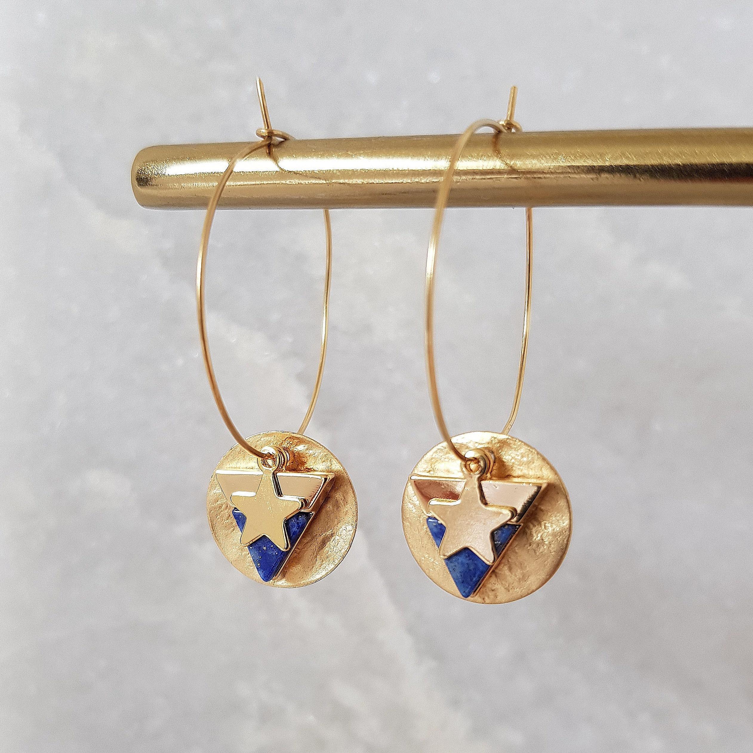 2fca995dc753 Charm Hoop Earrings Gold Hoops Hoop Earrings Gold