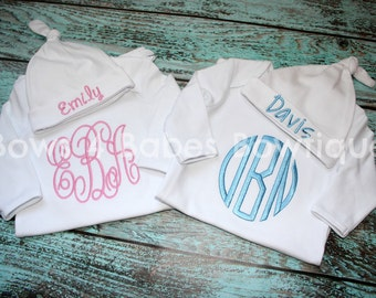 Twin Baby Gowns - Going Home Outfit- Twins Set