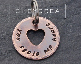Gift for Son Personalized Gift for Him Rustic Gift for Boyfriend or Husband Rustic Copper Arrowhead Keychain Gift for DAD