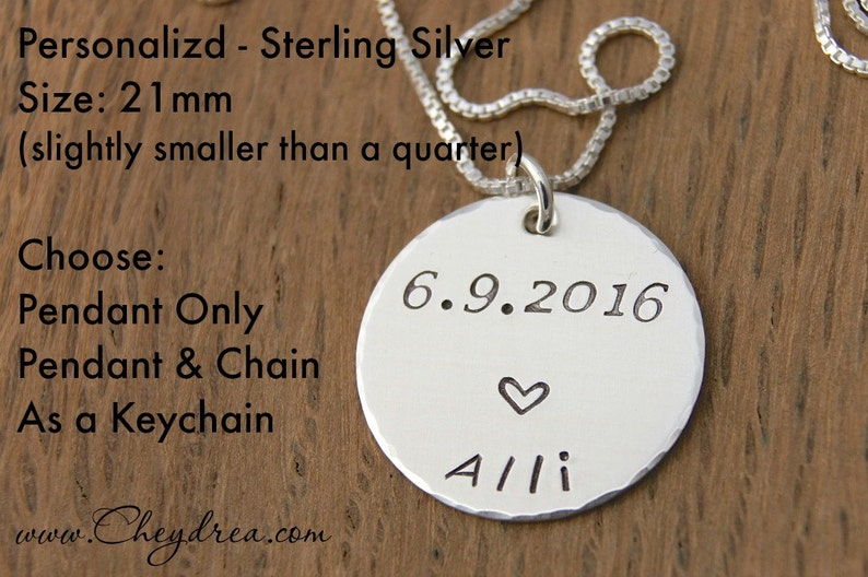 Birthday Necklace Daughter College Grad Gift Personalized Necklace Graduation Gift for Daughter Sterling Silver Graduation Gift Sister