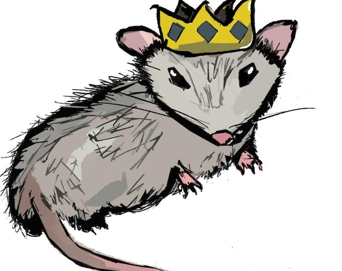 Carl (opossum) The Dumpster King - Vinyl Sticker