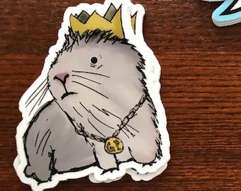 Mr. Gordon (Guinea Pig King) -Vinyl Sticker