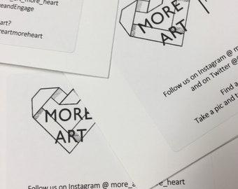 Art Card downloadable PDF - DIY More ART | More Heart Post Cards