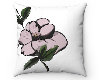 Maggie May (Magnolia) Square Throw Pillow Cover + Insert