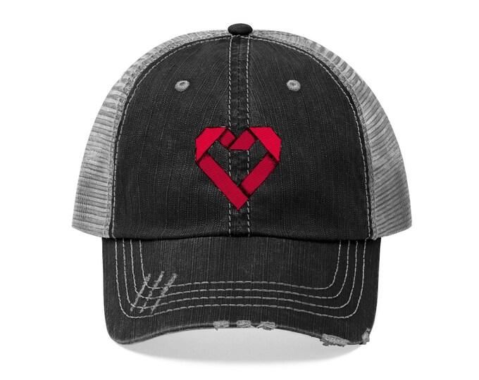 Red Paper HeartTrucker Hat - Shop Logo Hat
