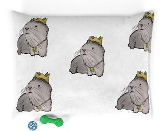 Gordon The Guinea Pig King - Super Soft Washable Pet Bed