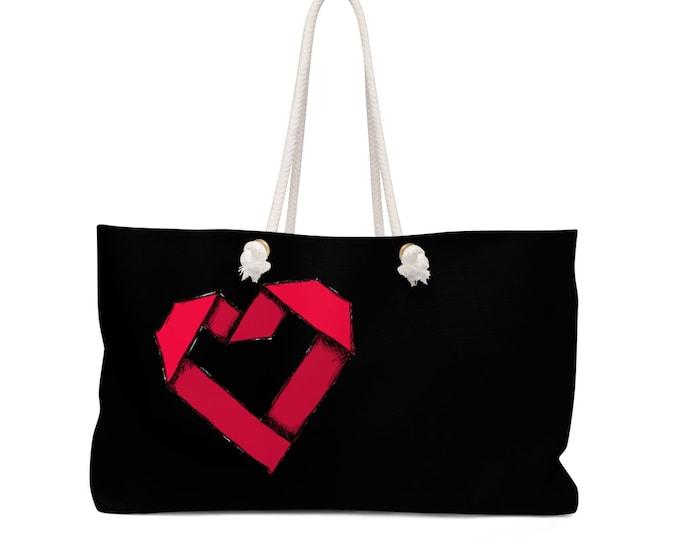 Origami Paper Heart: More ART | More Heart Studio Weekender Bag