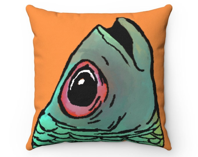 Allen Fish Head Perfect Square Pillow Cover + Pillow Insert