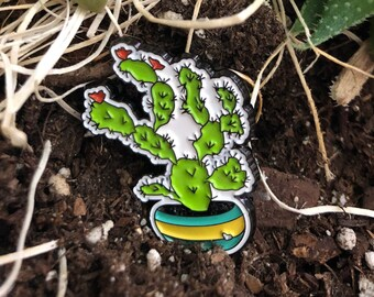Super Cute Cactus - Soft Enamel Lapel Pin from the Sweet Tart Cactus Line