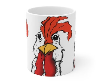 Mr. Chicken Ceremic Mug 11oz