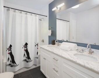 Mr. Bubbles (Penguin)- Shower Curtain