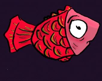 Halftone Fish - Digital Download