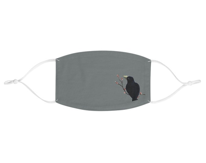 Ms. Mabel ( Black Bird / Crow Double Layer Fabric Face Mask